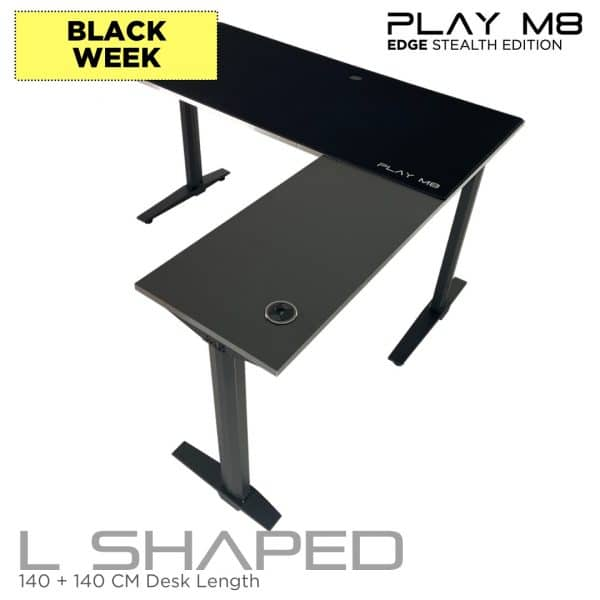 L Shaped Gaming Desk - Black Friday - Play M8