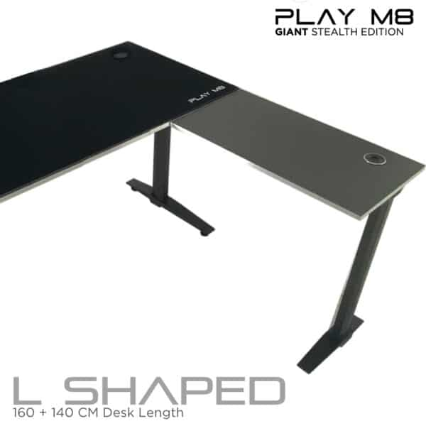 L Shaped Gaming Desk - Giant - Play M8 Gaming.