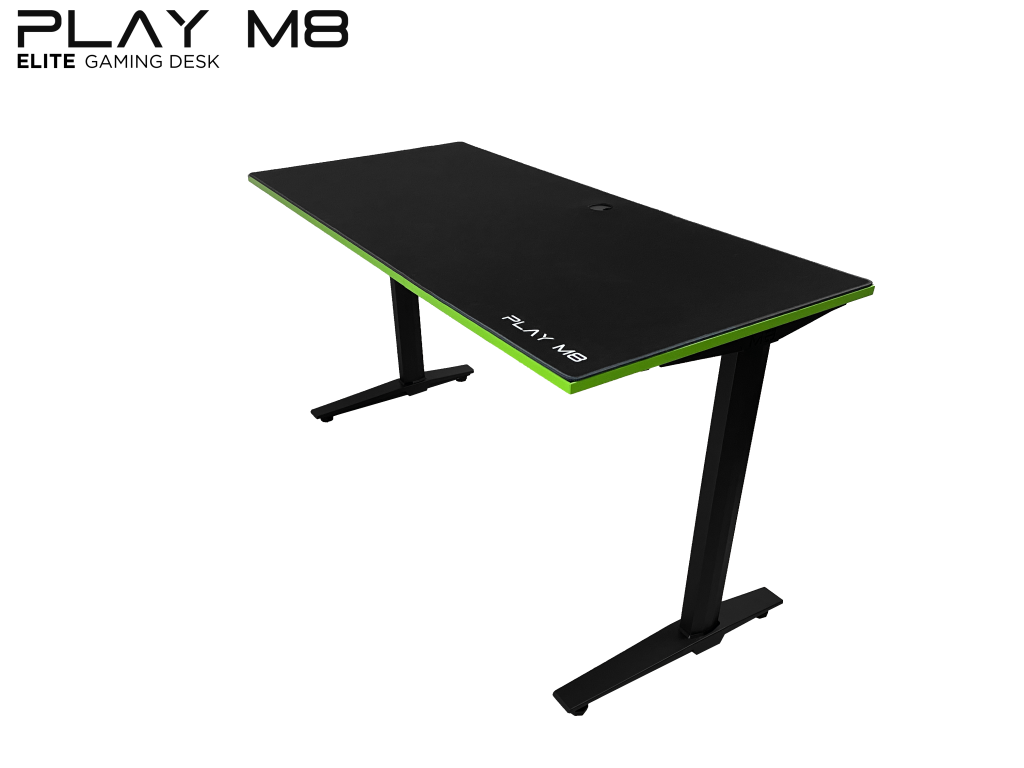 Elite Gaming Desk - Side - Play M8 Gaming - Black - 140 cm