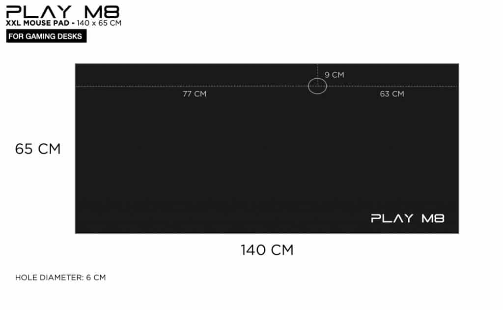 4XL Mouse Pad - Play M8 - 140 x 65 CM