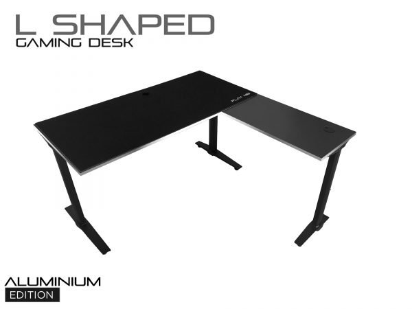 L Shaped Gaming Desk - XL - Alu Edition - Play M8