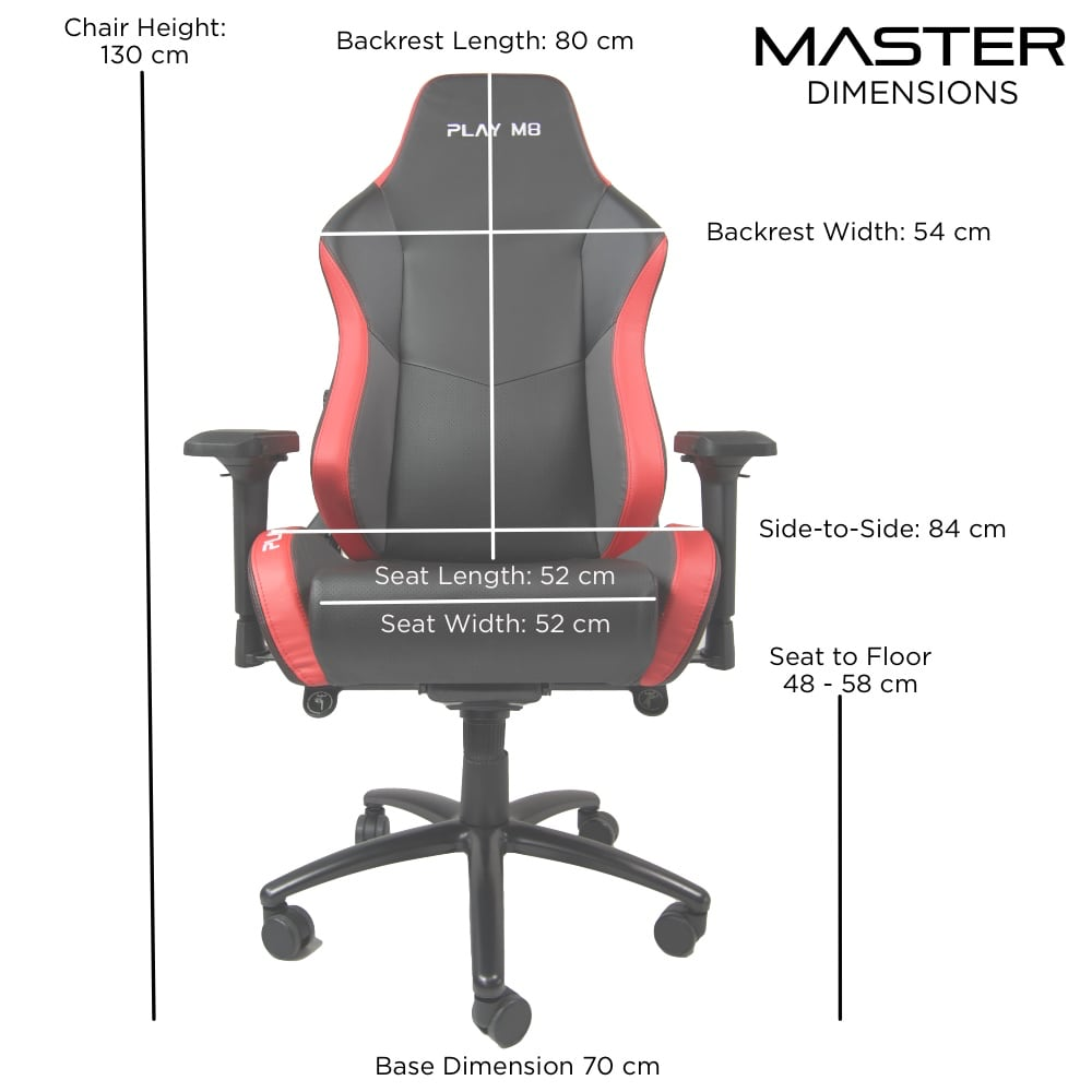 Master Gaming Chair. Dimensions.